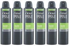 6 x Dove Men Care Extra Fresh Spray Deodorant Anti-Perspirant 150ml