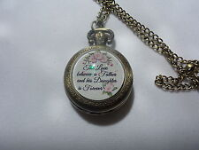 Between A Father And His Daughter Antique Bronze Watch Necklace The Love