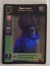 Star Wars Young Jedi ccg Rune Haako, Neimoidian Deputy Reflections Foil