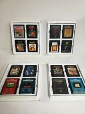 Atari game lot leather clamshell binder 16 games total fast free ship L@@K HERE!