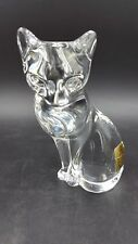 Crystal Cat Figurine/Paperweight by Bleikrisatll Crystal Made in Germany