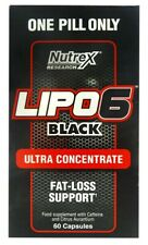 Nutrex  Lipo-6 Black, Ultra Concentrate - 60 caps Free Uk P&P