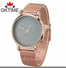 New Brand Men Women Unisex Ladies Stainless Steel Dial Analog Quartz Wrist Watch