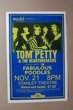 Tom Petty & the Heatbreakers 1979 Concert Tour Poster Stanley Theatre