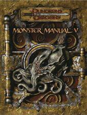Dungeons & Dragons-D&D-MONSTER MANUAL V (5)-RPG-Rolplaying Game-(HC)-new-rare