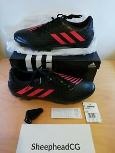 Adidas Malice SG Mens Rugby Boots Black / Red - Size UK 12.5 - New in Box AQ2049