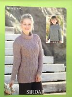 "Sirdar Freya Ladies/Girls Cable Sweater Knitting Pattern Sizes 24-46"" 9881"