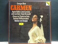 CARMEN Bizet BALTSA / CARRERAS Herbert VON KARAYAN 3LP 2741025 DEUTSCHE GRAMMOPH