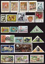 25T4 HONGRIE 24 timbres obliteres ,sujets divers