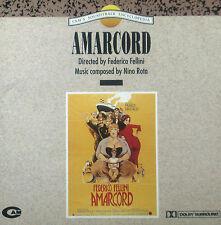 Federico Fellini Amarcord Ost - Nino Rota 1991 Cam 1St Press No Barcode Cd Mint