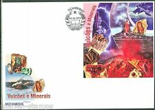 MOZAMBIQUE 2013 VOLCANOES AND MINERALS SOUVENIR SHEET FIRST DAY COVER
