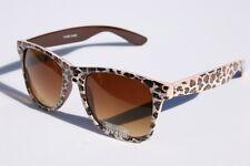 Leopard glitter 80's Vintage Retro SUNGLASSES with brown gradient lens