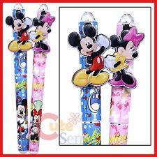 Disney Mickey Minnie Mouse Pen Set Black Ink 2pc Ball Point Set - Victory