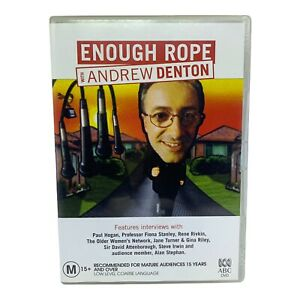 Enough Rope With Andrew Denton DVD - Region 4, PAL (1 Disc) - ABC Broadcasting