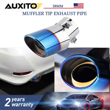 Car Exhaust Muffler Stainless Steel Tail Pipe Trim Decorative Tip Anti-corrosive
