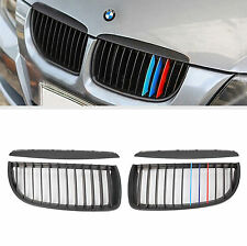 ///M Color Matte black Kidney Grill Grilles for BMW E90 4Door Sedan 3Serie 05-08