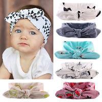 Newborn Baby Kids Girls Infant Rabbit Bow Headband Hairband Headwear Turban Knot