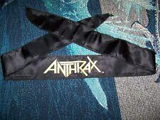 New Vintage 1980s Anthrax Headband Scarf Wall Hanging Bandana Banner Tapestry