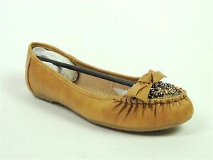 Rampage Women's Mauri Ballet Loafer Inspired flats Camel Size 7.5 M
