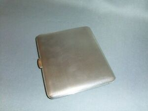 Silver Cigarette Case Hallmarked Birmingham 1951 Ideal for Business Cards
