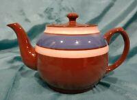 Vintage Sadler Brown, Blue & Tan Teapot made in Staffordshire England