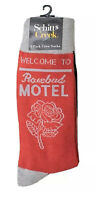 New Mens SCHITTS CREEK Novelty Socks OSFM WELCOME TO ROSEBUD MOTEL