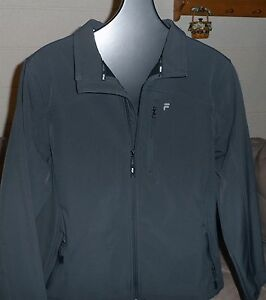FILA SPORT Water Repellant Performance Zip Front JACKET Fleece Lined Mens MEDIUM