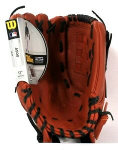 Wilson A500 Authentic Official MLB Top Grain Leather Glove Age 10 To 13 Years
