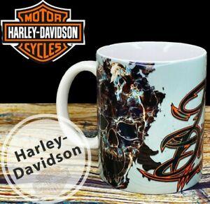 Harley Davidson Motorcycle Biker Skull Mug coffee tea retro gift cup