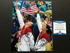 Kerri Walsh Misty May signed autographed volleyball 8x10 photo Beckett BAS coa