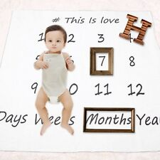 Swaddle Newborn Cotton Blanket Monthly Milestone Baby Photography Props XP