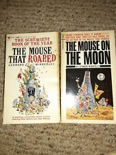 Lot of 2 The Mouse That Roared and The Mouse on the Moon by Leonard Wibberley