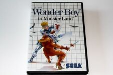 WONDER BOY IN MONSTER LAND - SEGA MASTER SYSTEM - COMPLETE