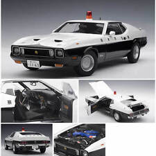 1971 FORD MUSTANG MACH 1 JAPANESE POLICE CAR 1:18 AUTOART #72826 NEW LOWER PRICE