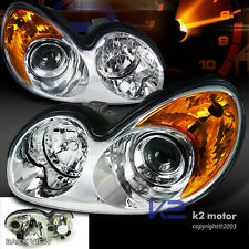 For 2002-2005 Sonata Clear Chrome Projector Headlights+Amber Signal Corner Lamps