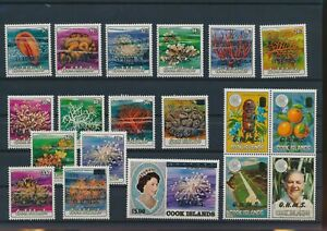 LN66274 Cook Islands ocean coral reef sealife fine lot MNH