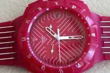 Swatch Pink Run Chronograph Date Watch SUIP401- 45mm $115 Ladies Rubber