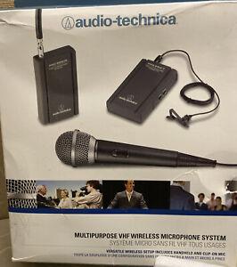 Audio-Technica ATR288W VHF Battery-Powered TwinMic Microphone System Mint