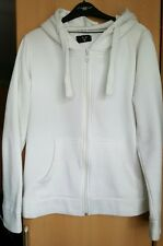 ladies zip up hooded off white thick jacket new look AX size 12