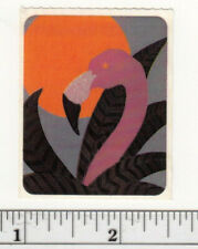 Small Vintage Acard Stickermania Flamingo Sunset Glossy Sticker