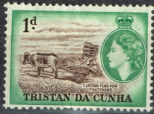 Tristan Da Cunha Islands Fauna Cow Farm Flax stamp 1964 MLH