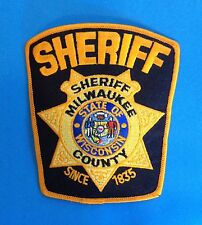 Vintage Milwaukee County Sheriff Collectable Uniform Shoulder Patch Crest