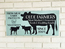 """Large Rustic Wood Sign - """"Farmers Market...."""" Free Color Customization"""
