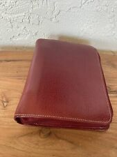 Franklin Covey Red Leather Zip Planner 65 X85