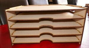 12 x 12 4 Level Paper Trays/Vinyl Storage Fits Kallax, free standing, Stackable