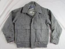 Vtg Pendleton USA Made Zip Front Fleck Jacket Sz Medium Virgin Wool Mackinaw