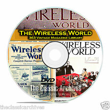 The Wireless World, 363 Vintage Old Time Radio Magazine Collection PDF DVD B86