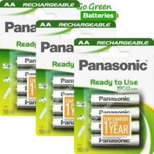 12x Panasonic AA Rechargeable Battery 1900 mAh Ready To Use HR06 LR6 NiMH MN1500