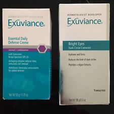 Exuviance Essential Daily Defense Creme & Bright Eyes Dark Circle Corrector
