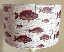Fish Lampshade,light shade,Vintage newspaper, Shabby chic,Natural Free Gift